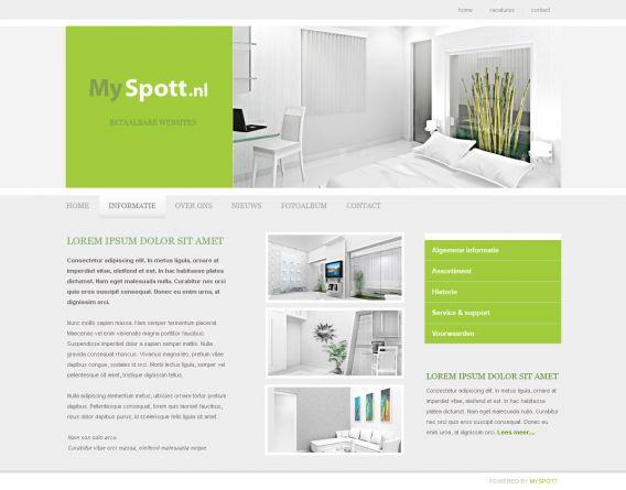 als u huishoudelijk design verkoopt of interieuradvies geeft moet uw website ook een perfect design